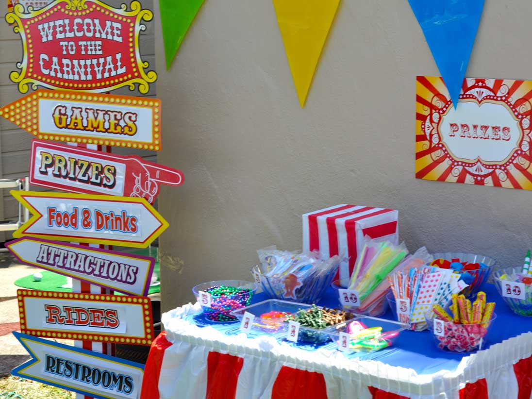 Circus carnival cherry on top parties for Birthday games ideas for adults