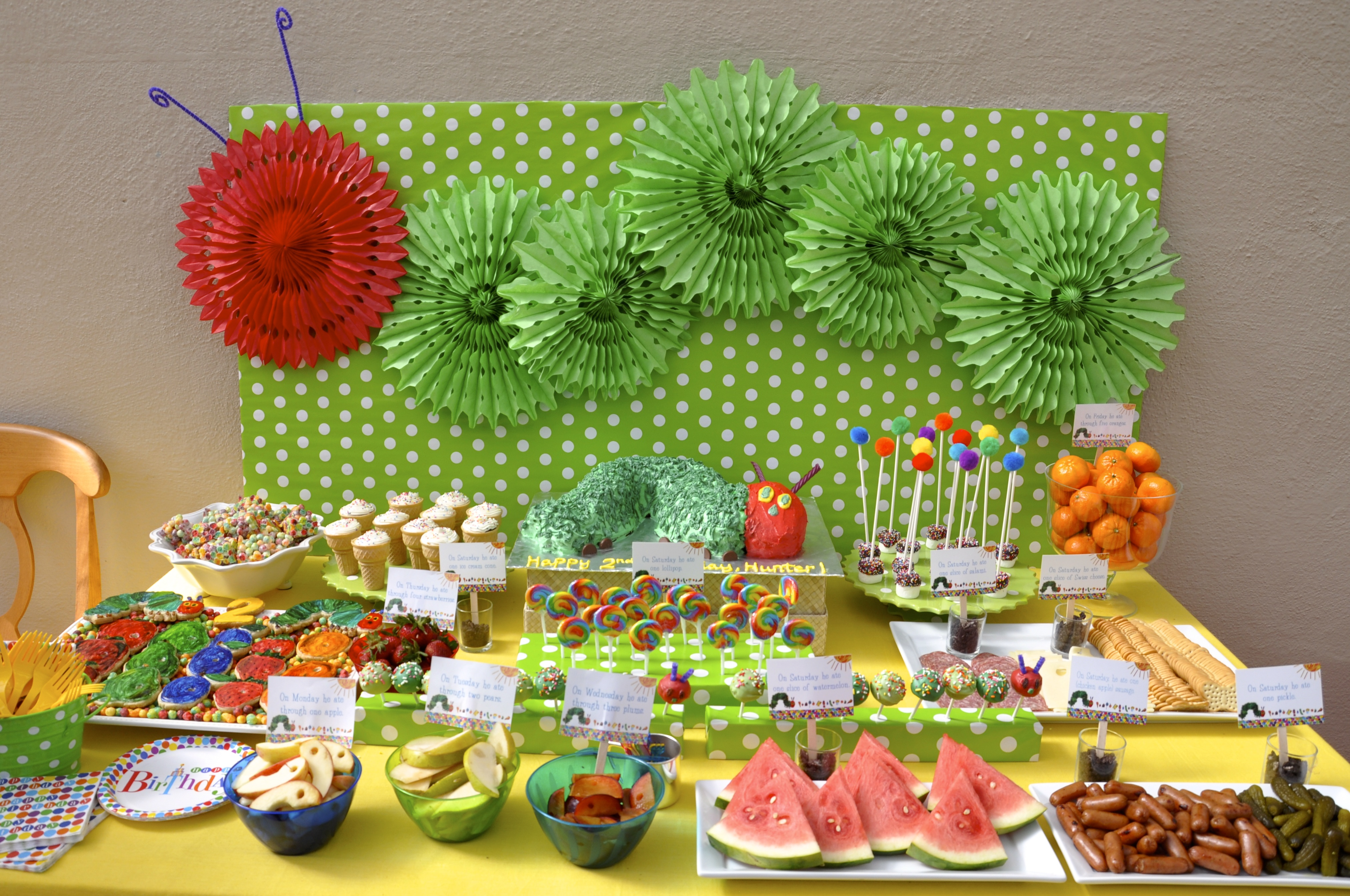 Hungry Caterpillar - Cherry On Top Parties
