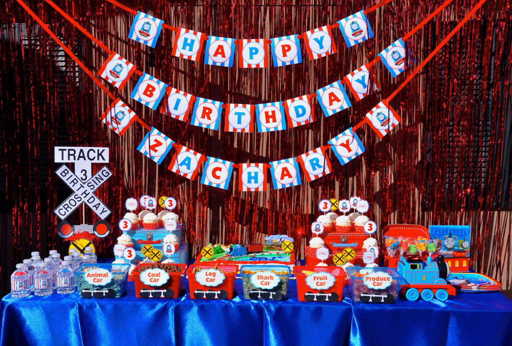 Amazing Thomas the Train kids birthday party by Cherry On Top Parties! Decorations, activities, games, favors, and more!